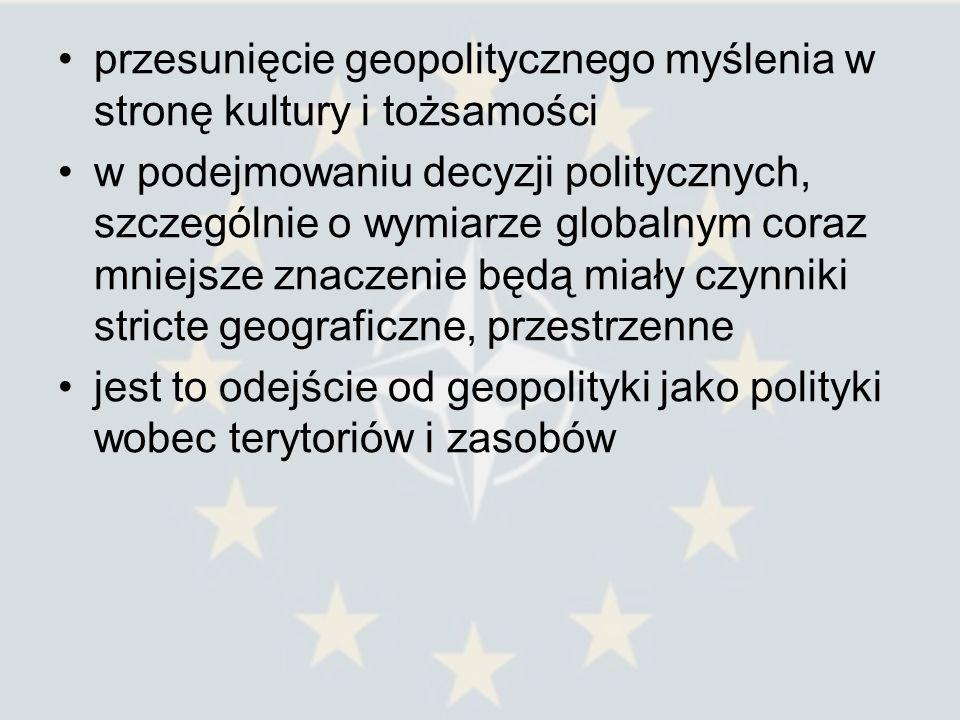 Mimo tego optymistycznego podejścia zaobserwować można odradzanie się przestrzenności, jakiejś formy nowego regionalizmu, który wyraża się w takich sformułowaniach, jak: wewnątrz-na zewnątrz; centrum-peryferia, centrum- obrzeża Przykłady: dyskusja na temat Europejskiej Polityki Sąsiedztwa konferencja Wspólna wizja na rzecz wspólnego sąsiedztwa, która odbyła się w maju 2006 roku w Wilnie