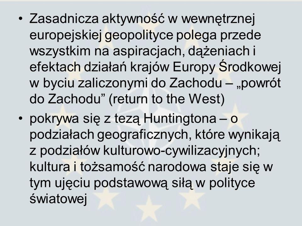 Huntington sugerował rozszerzenie NATO i UE na wschód.