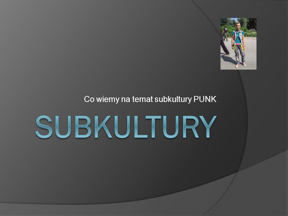 Co wiemy na temat subkultury PUNK