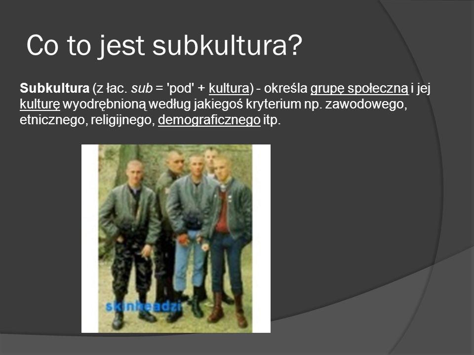 Co to jest subkultura.Subkultura (z łac.