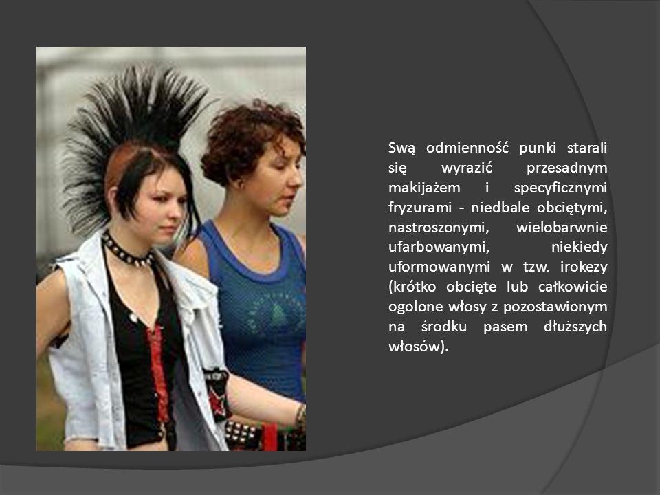 UBIÓR prawdziwego punka Stylistyka punk wykroczyła znacznie poza ramy muzyczne, przejawiając się na w modzie i codziennym zachowania. Punków charakter