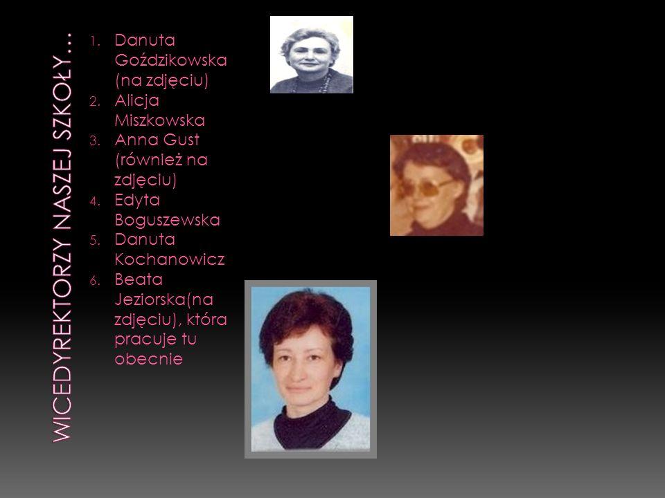 1. Danuta Goździkowska (na zdjęciu) 2. Alicja Miszkowska 3. Anna Gust (również na zdjęciu) 4. Edyta Boguszewska 5. Danuta Kochanowicz 6. Beata Jeziors