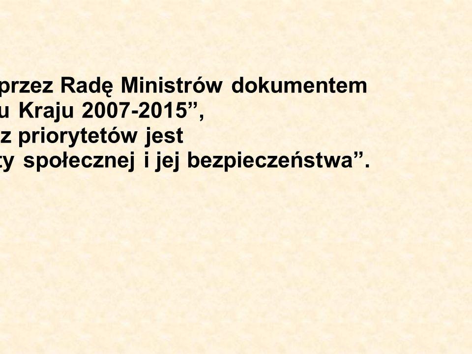Program jest zgodny z przyjętym przez Radę Ministrów dokumentem Strategia Rozwoju Kraju 2007-2015, którego jednym z priorytetów jest Budowa zintegrowa