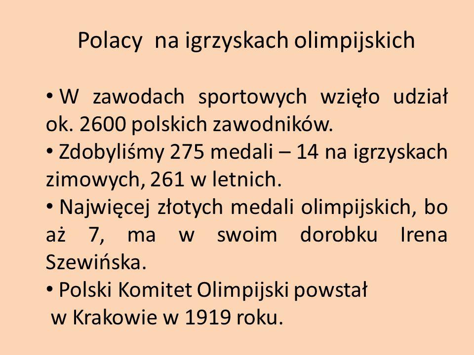 Polacy na igrzyskach olimpijskich W zawodach sportowych wzięło udział ok.