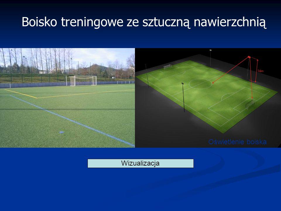 Wizualizacja Boisko treningowe ze sztuczną nawierzchnią Oświetlenie boiska