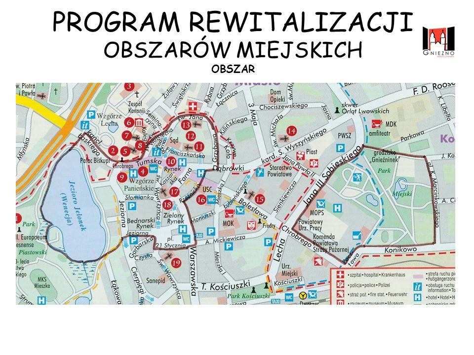 Obszar ograniczony rynkami: Zielonym i Bednarskim oraz Placem 21 Stycznia oraz ulicą Warszawską, Obszar jeziora Jelonek wraz z przyległymi terenami, Obszar Parku Miejskiego przy ul.
