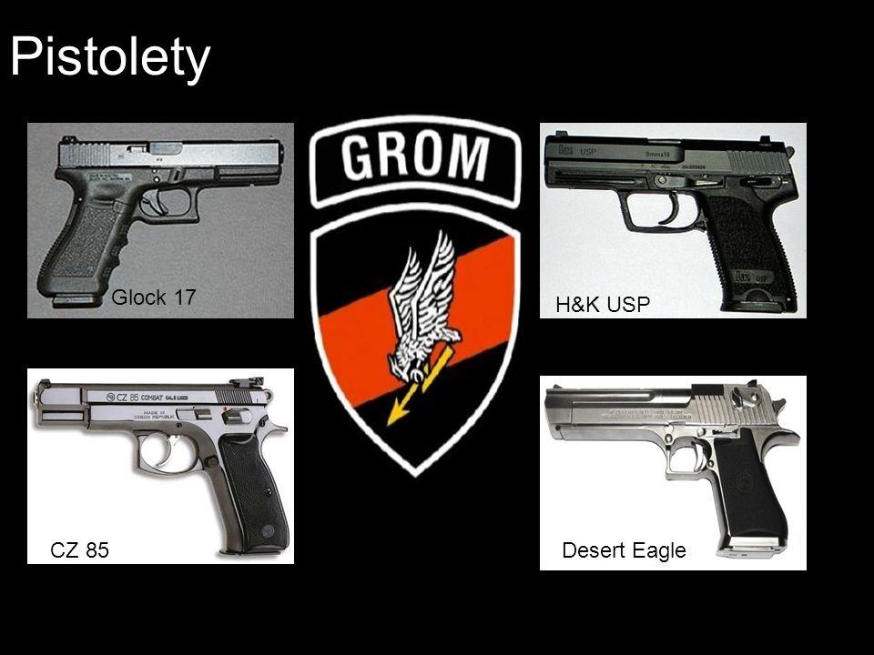 Pistolety Glock 17 H&K USP Desert EagleCZ 85