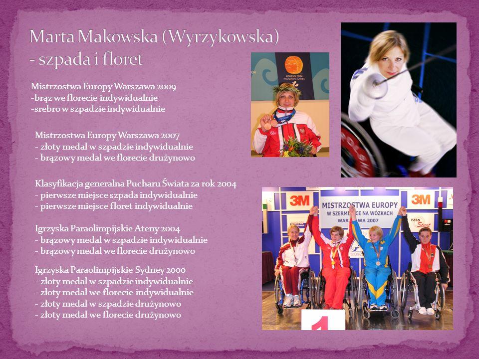 Mistrzostwa Europy Warszawa 2009 -brąz we florecie indywidualnie -srebro w szpadzie indywidualnie Mistrzostwa Europy Warszawa 2007 - złoty medal w szp