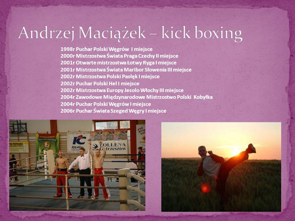 1998r Puchar Polski Węgrów I miejsce 2000r Mistrzostwa Świata Praga Czechy II miejsce 2001r Otwarte mistrzostwa Łotwy Ryga I miejsce 2001r Mistrzostwa