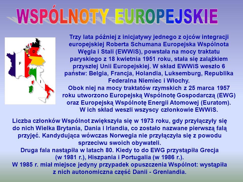 Trzy lata później z inicjatywy jednego z ojców integracji europejskiej Roberta Schumana Europejska Wspólnota Węgla i Stali (EWWiS), powstała na mocy t