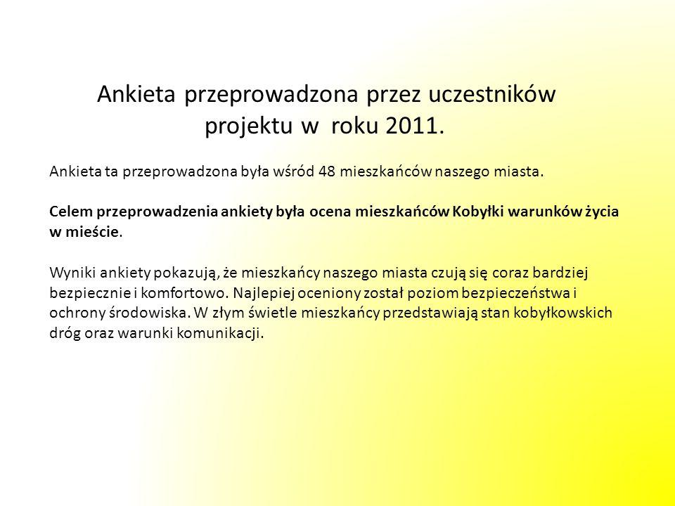 Ankieta przeprowadzona przez uczestników projektu w roku 2011. Ankieta ta przeprowadzona była wśród 48 mieszkańców naszego miasta. Celem przeprowadzen