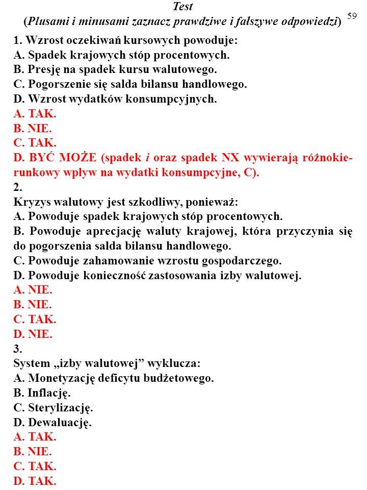 58 7. W obecnej sytuacji gospodarczej Polski dolaryzacja nie byłaby złym rozwiązaniem. a) Podaj jeden argument na rzecz tej opinii. b) A teraz podaj j