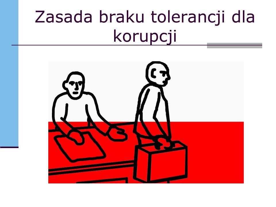 Zasada braku tolerancji dla korupcji