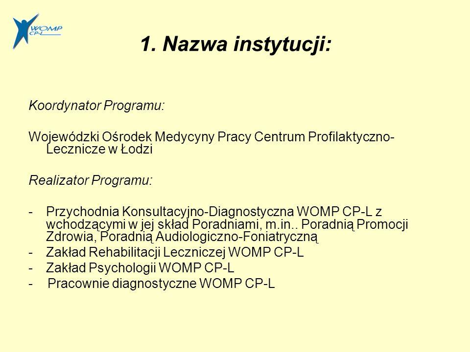 Zadania Programu cd.