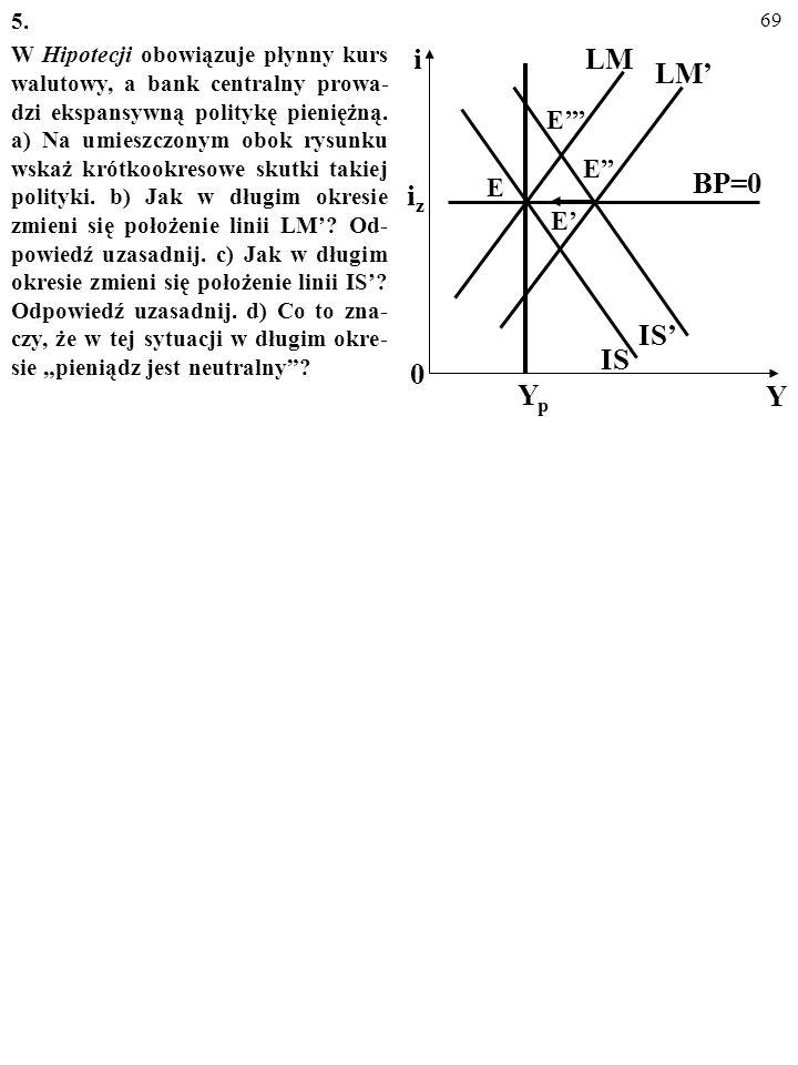 68 4. Czy to prawda, że skuteczność dewaluacji wzmacniają: a) Efekt krzywej J? b) Efekt histerezy? c) Sterylizacja? Za każdym razem uzasadnij swoją op
