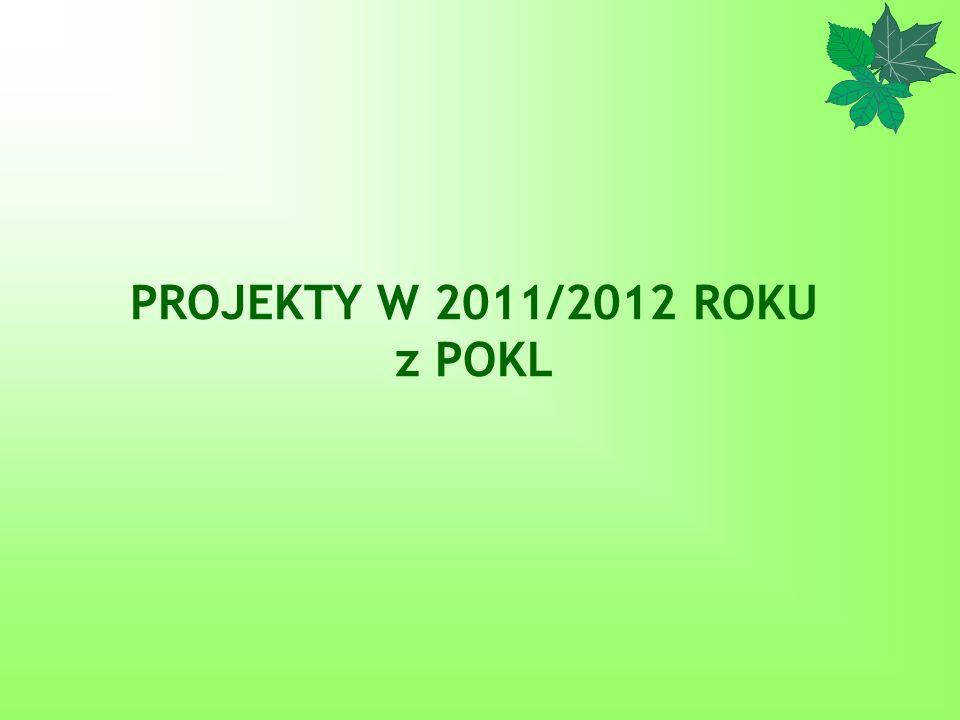 PROJEKTY W 2011/2012 ROKU z POKL