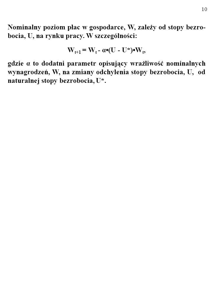 9 1. KRZYWA PHILLIPSA KRZYWA PHILLIPSA stanowi rozwinięcie modelu AD/AS i po- kazuje związek stóp inflacji (π) i bezrobocia (U) w gospodarce. Wyprowad