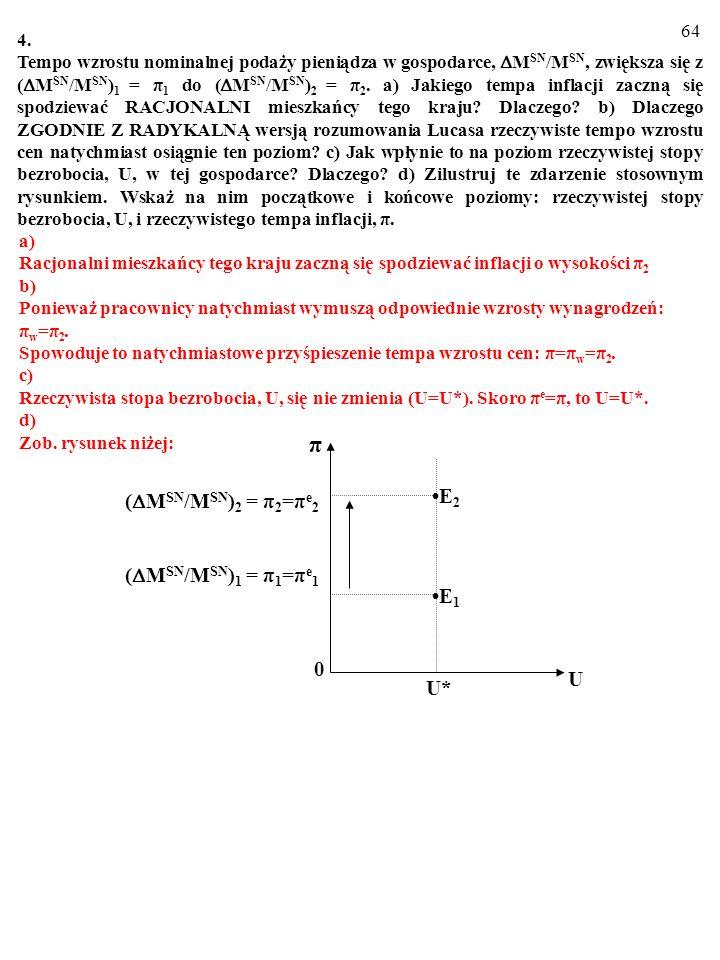 63 3. a) Jaka jest treść hipotez o adaptacyjnych i o racjonalych oczekiwaniach inflacyj- nych? b) Jakie oczekiwania inflacyjne mają – Twoim zdaniem –