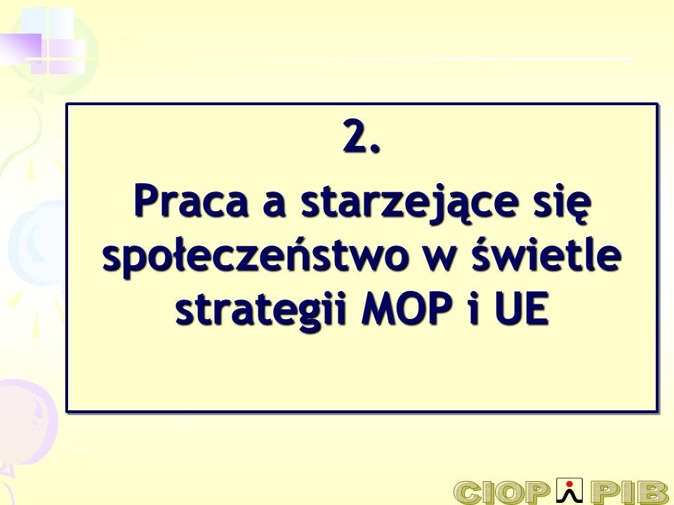 2. Praca a starzejące się społeczeństwo w świetle strategii MOP i UE 2.