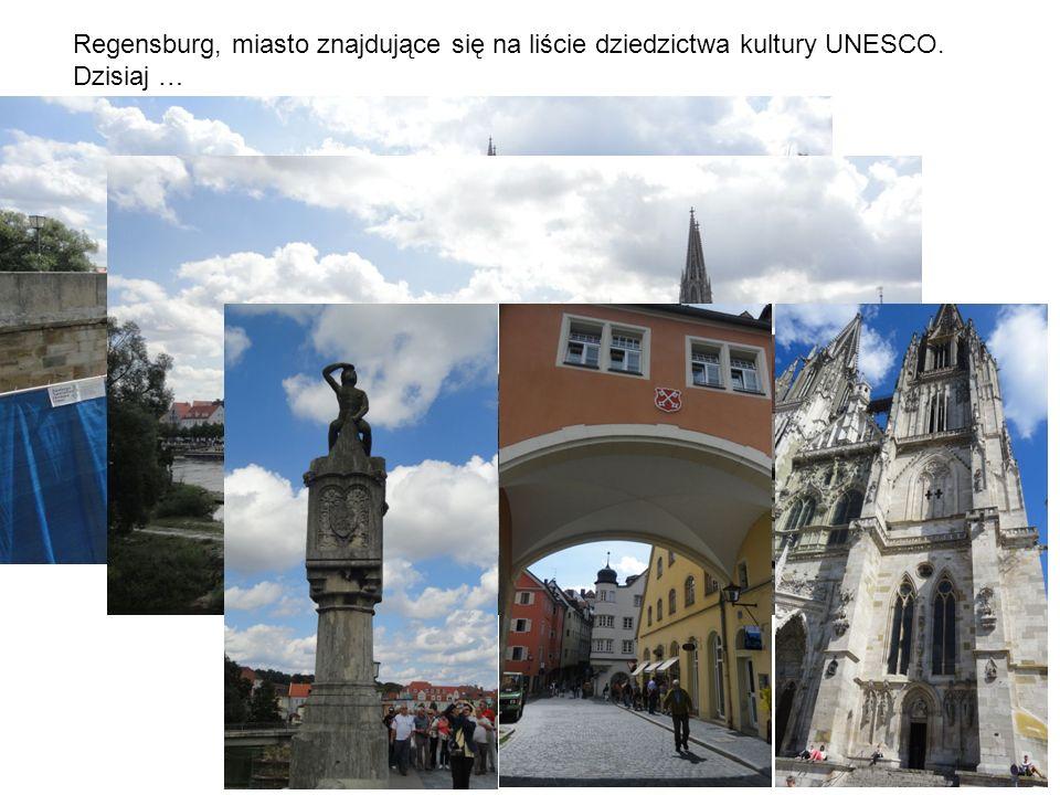 Regensburg, miasto znajdujące się na liście dziedzictwa kultury UNESCO. Dzisiaj …