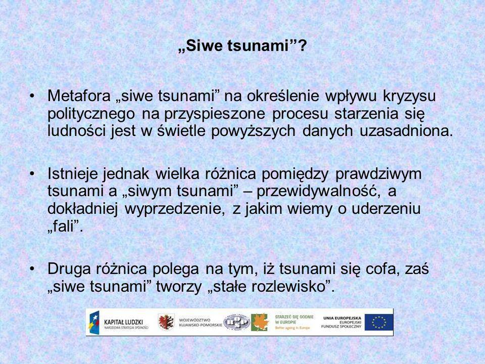 Siwe tsunami? Metafora siwe tsunami na określenie wpływu kryzysu politycznego na przyspieszone procesu starzenia się ludności jest w świetle powyższyc