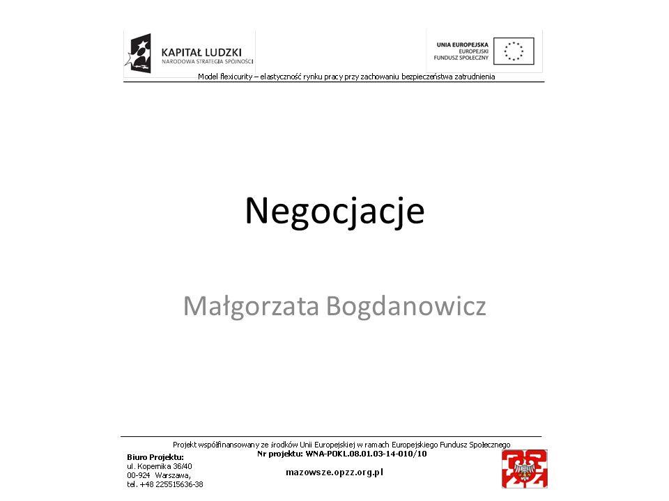 Negocjacje Małgorzata Bogdanowicz