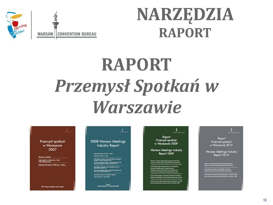 The Unique Alternative to the Big Four SM 12 NARZĘDZIA RAPORT Przemysł Spotkań w Warszawie