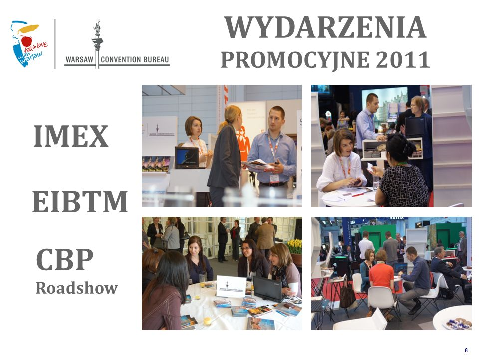 The Unique Alternative to the Big Four SM 8 WYDARZENIA PROMOCYJNE 2011 IMEX CBP Roadshow EIBTM