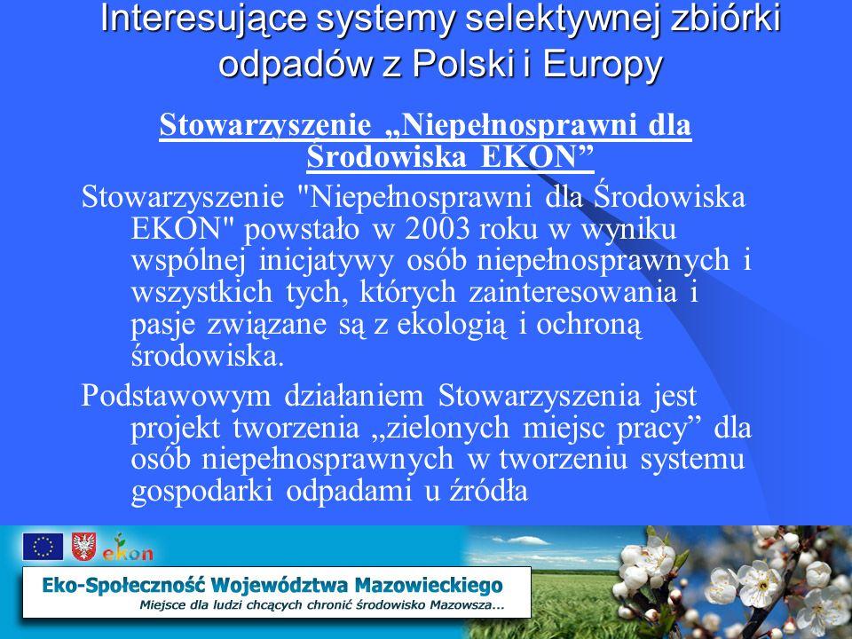 Interesujące systemy selektywnej zbiórki odpadów z Polski i Europy Schemat działania