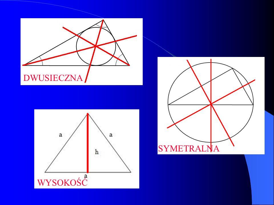 Twierdzenie Pitagorasa Jeśli trójkąt jest prostokątny, to suma kwadratów długości przyprostokątnych jest równa kwadratowi długości przeciwprostokątnej.