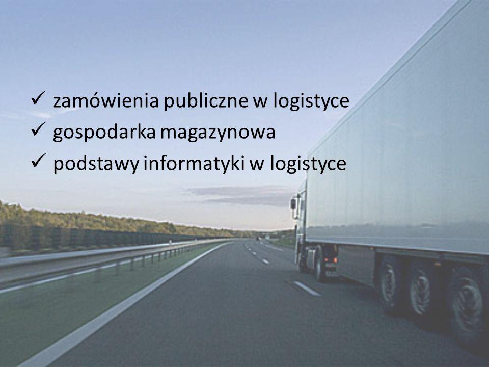 zamówienia publiczne w logistyce gospodarka magazynowa podstawy informatyki w logistyce