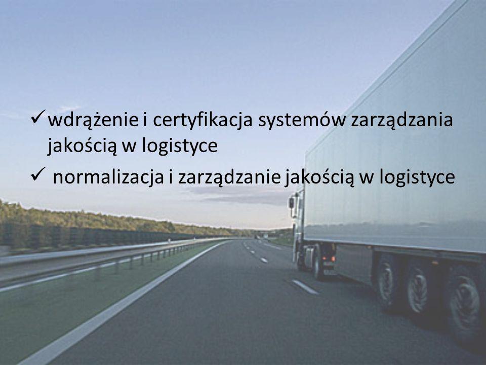 wdrążenie i certyfikacja systemów zarządzania jakością w logistyce normalizacja i zarządzanie jakością w logistyce