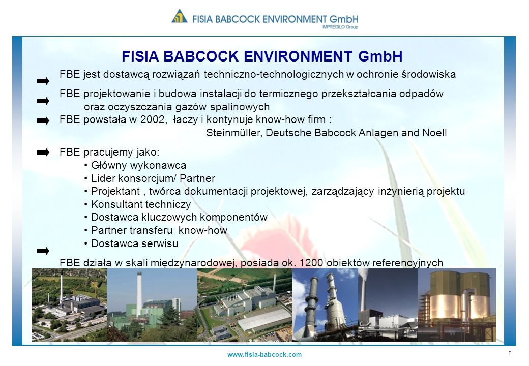 48 www.fisia-babcock.com 1.FBE - The Company 2. Waste Management 3.