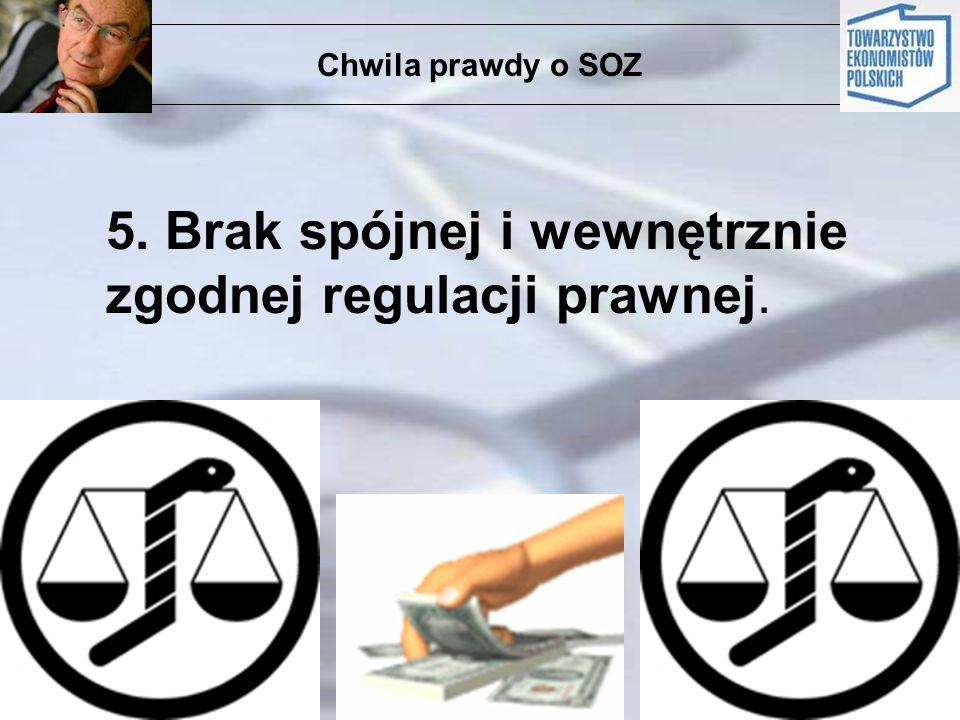 Chwila prawdy o SOZ 5. Brak spójnej i wewnętrznie zgodnej regulacji prawnej.