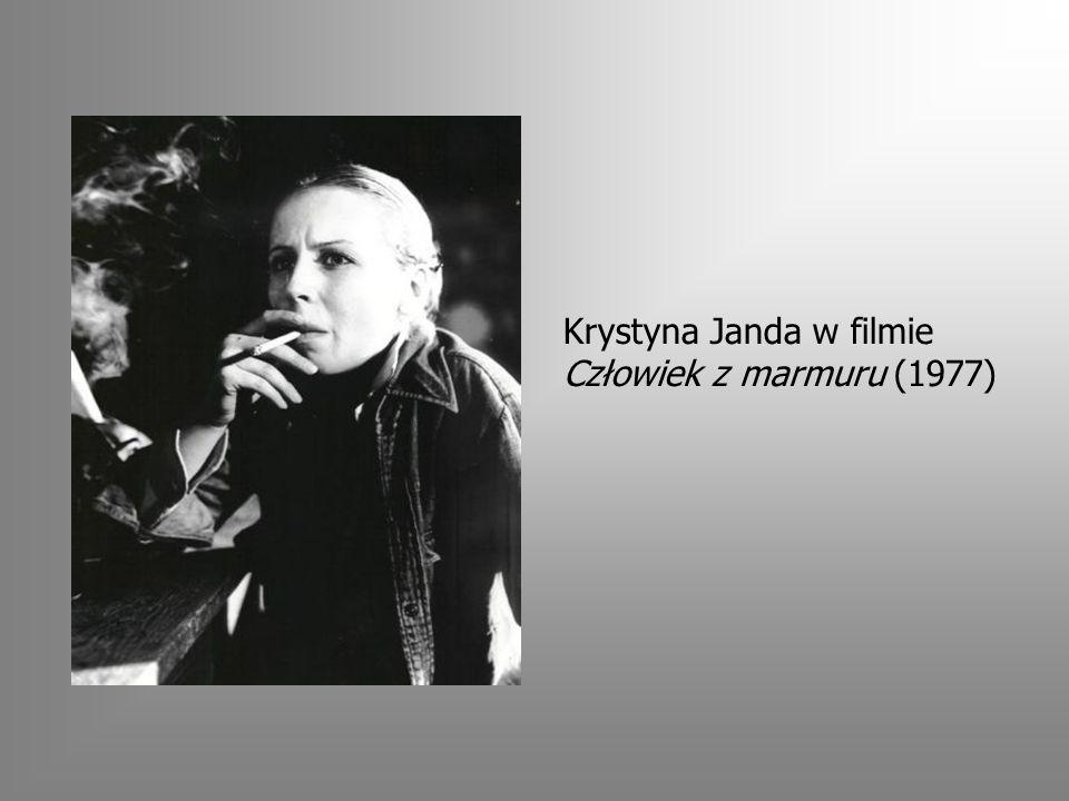 Krystyna Janda w filmie Człowiek z marmuru (1977)
