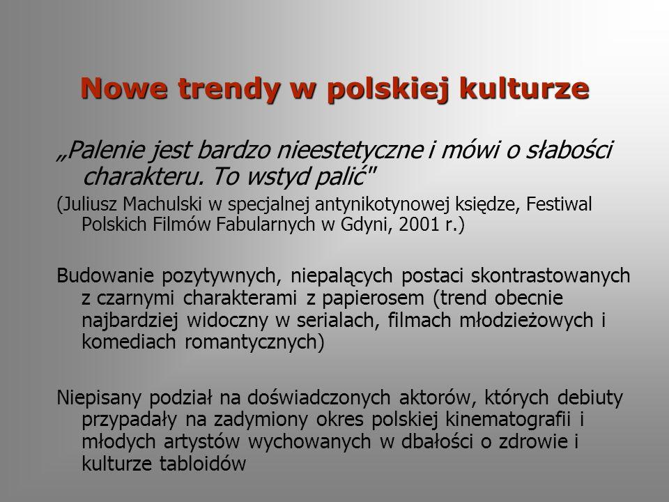 Nowe trendy w polskiej kulturze Palenie jest bardzo nieestetyczne i mówi o słabości charakteru.