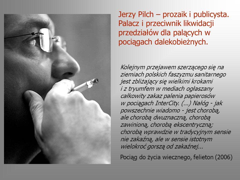 Kolejnym przejawem szerzącego się na ziemiach polskich faszyzmu sanitarnego jest zbliżający się wielkimi krokami i z tryumfem w mediach ogłaszany całkowity zakaz palenia papierosów w pociągach InterCity.