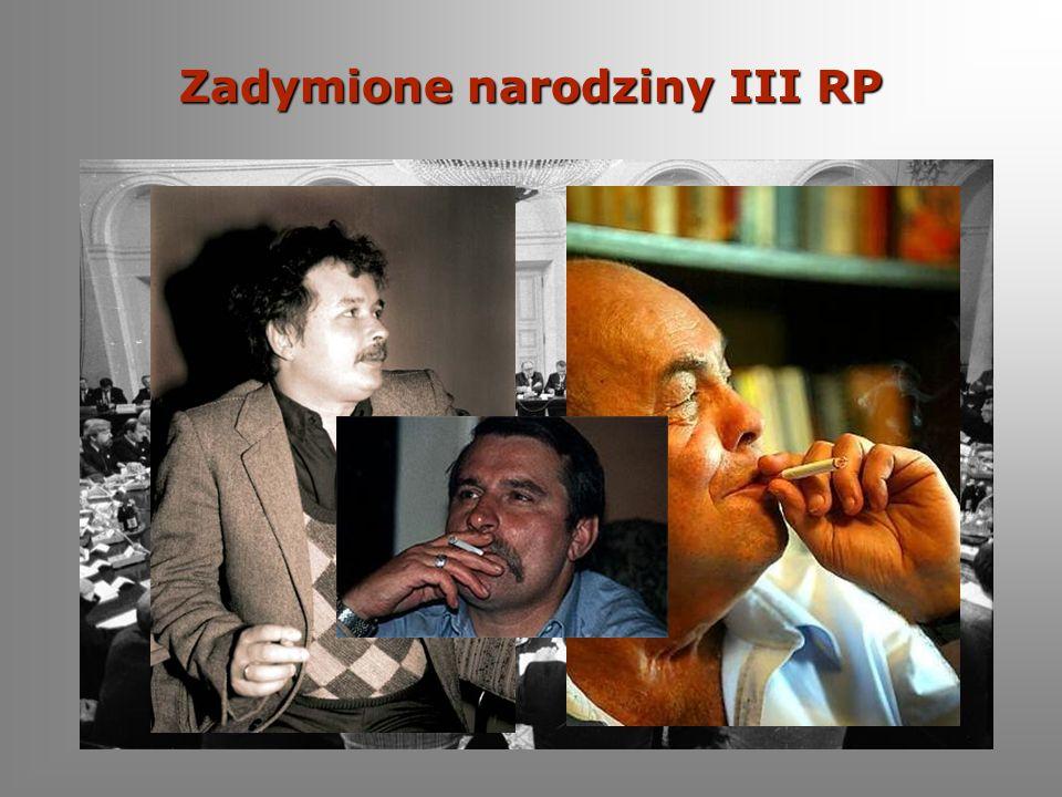 Palenie jest passe Obaliłeś komunizm, jesteś laureatem Nagrody Nobla i byłeś prezydentem, a palenia nie potrafisz rzucić.