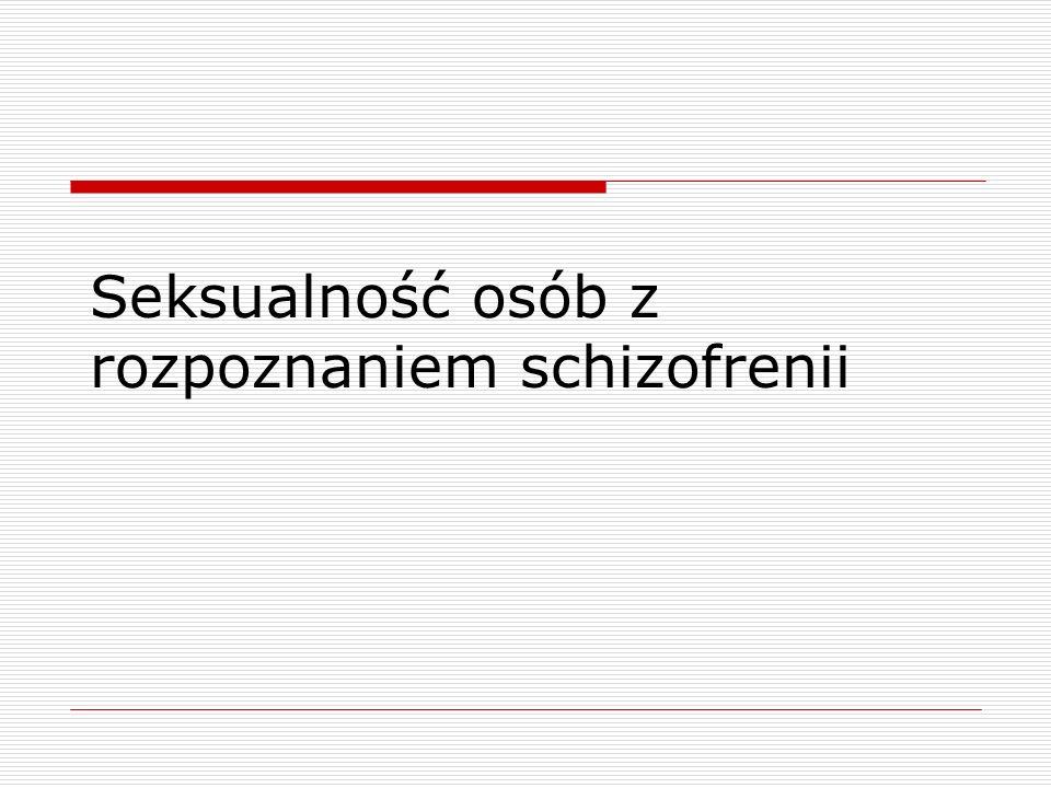 Schizofrenia – charakterystyka objawów Urojenia i omamy – objawy wytwórcze (w postaci paranoidalnej) Dezorganizacja mowy lub zachowania (postać zdezorganizowana) Obniżonej (osłupienie) lub nadmiernej (chaotycznej) aktywności ruchowej ( postać katatoniczna) Współwystępowanie objawów Dominacja objawów ubytkowych = negatywnych