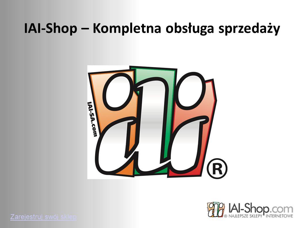 IAI-Shop – Kompletna obsługa sprzedaży Zarejestruj swój sklep