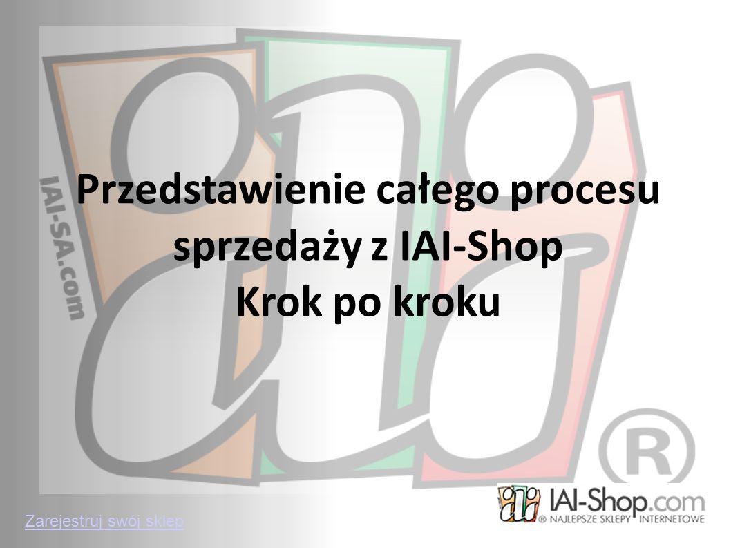 Przedstawienie całego procesu sprzedaży z IAI-Shop Krok po kroku Zarejestruj swój sklep