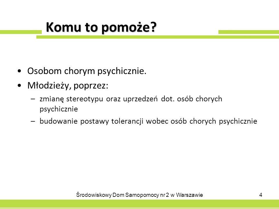 Sposoby realizacji Mówienie o chorobach i osobach chorych psychicznie; nauka posługiwania się właściwie dobranym słownictwem.