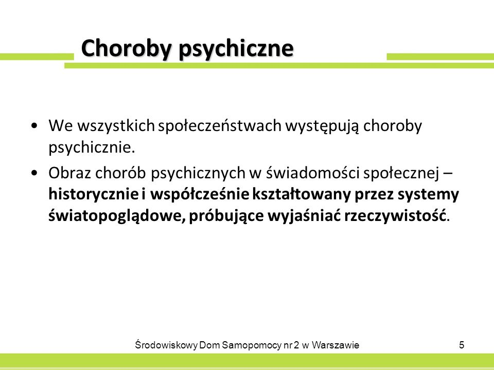 Choroby psychiczne cd.