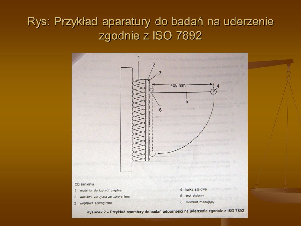 Rys: Przykład aparatury do badań na uderzenie zgodnie z ISO 7892