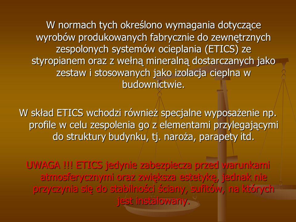 Dodatkowe wymagania w ZUAT nie obowiązujące w PN - EN