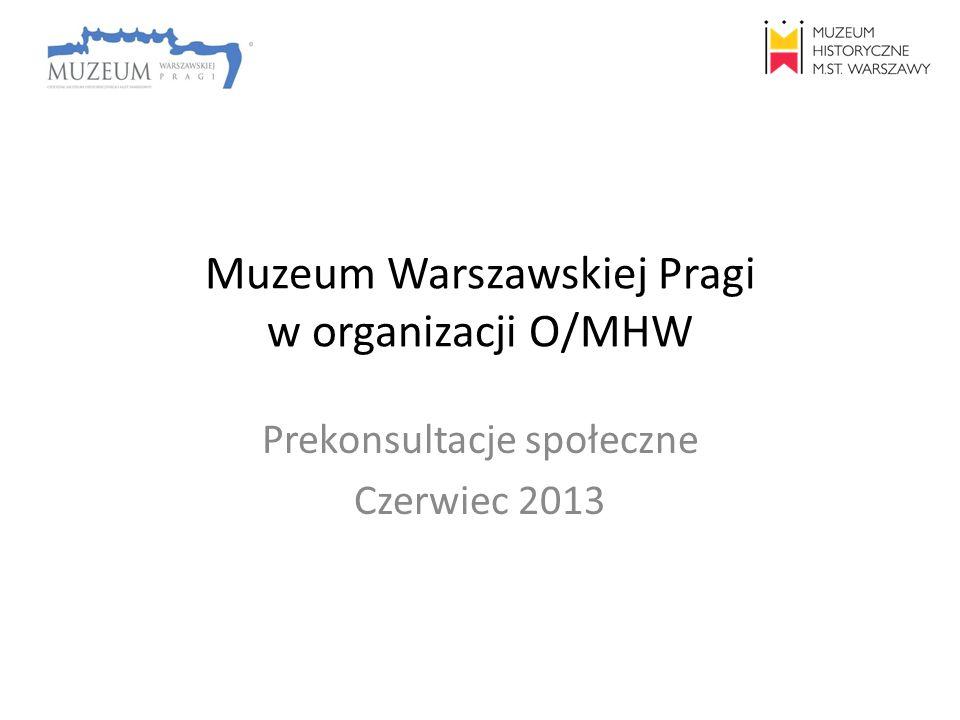Muzeum Warszawskiej Pragi w organizacji O/MHW Prekonsultacje społeczne Czerwiec 2013