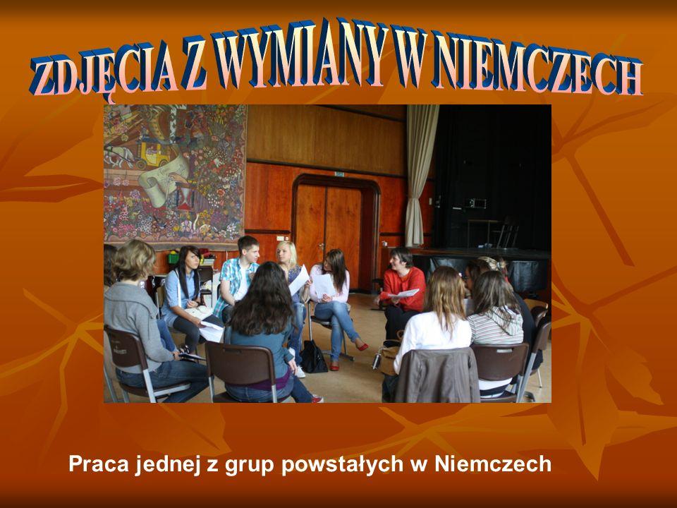 Praca jednej z grup powstałych w Niemczech