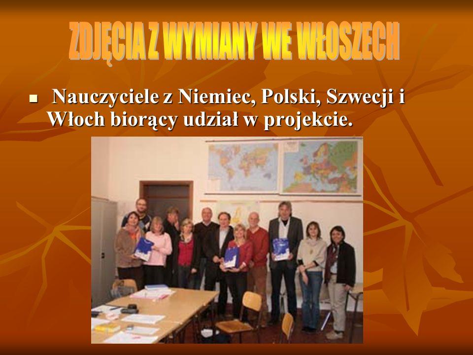 Nauczyciele z Niemiec, Polski, Szwecji i Włoch biorący udział w projekcie. Nauczyciele z Niemiec, Polski, Szwecji i Włoch biorący udział w projekcie.