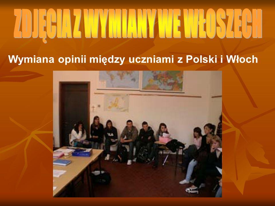 Wymiana opinii między uczniami z Polski i Włoch