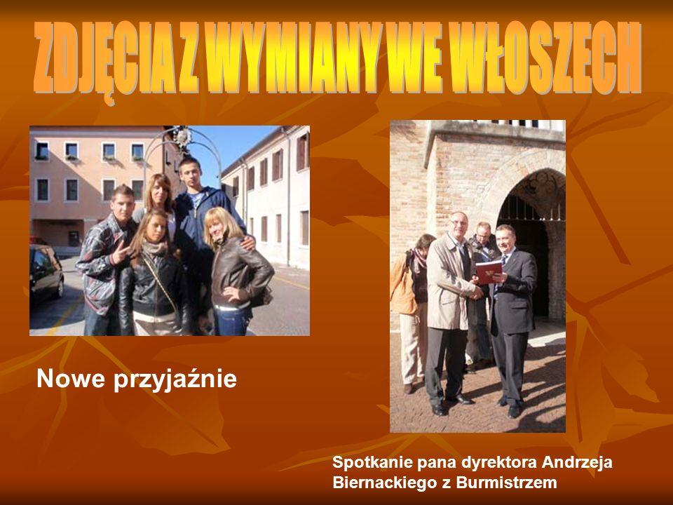 Nowe przyjaźnie Spotkanie pana dyrektora Andrzeja Biernackiego z Burmistrzem